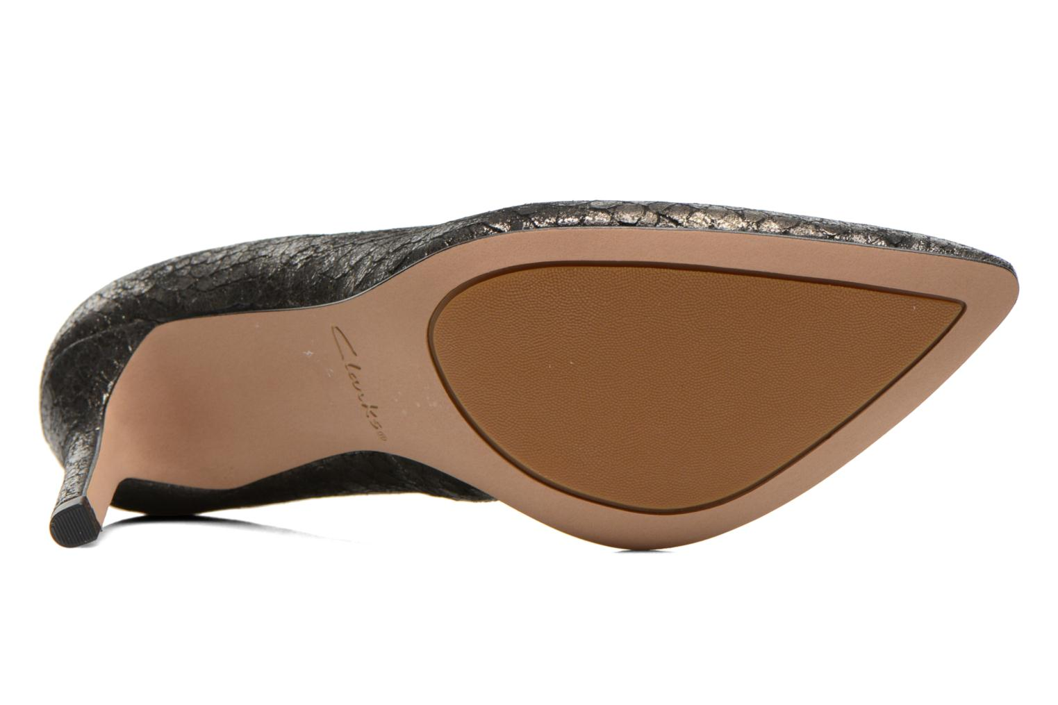 High heels Clarks Dinah Keer Bronze and Gold view from above