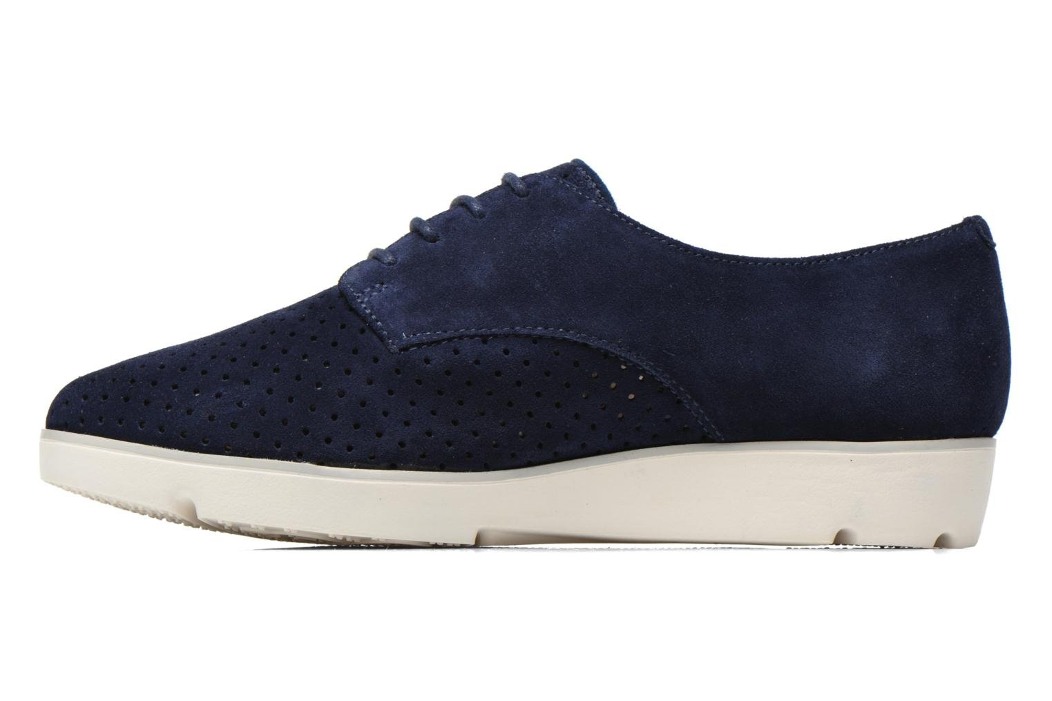 Lace-up shoes Clarks Evie Bow Blue front view