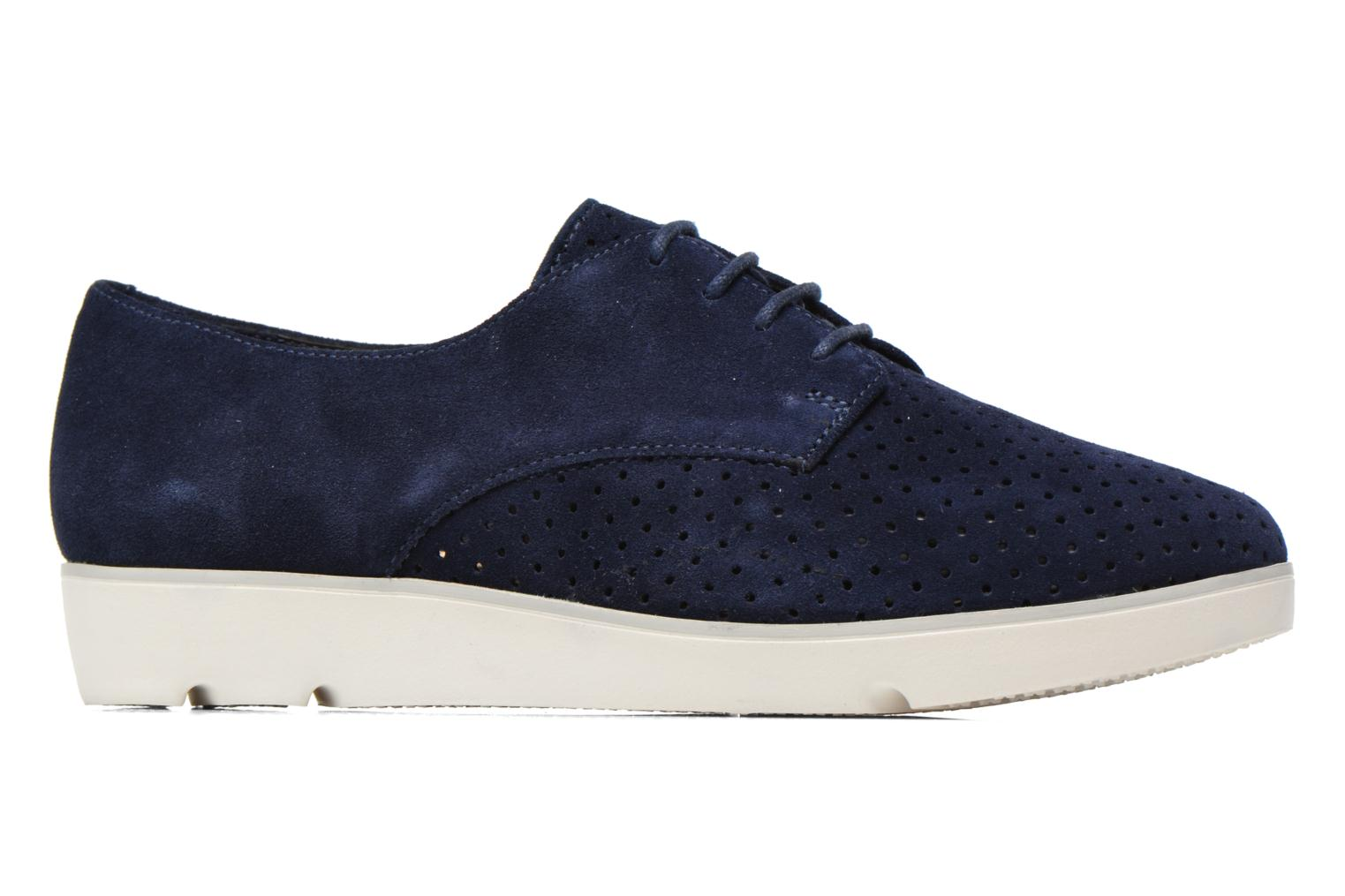 Lace-up shoes Clarks Evie Bow Blue back view