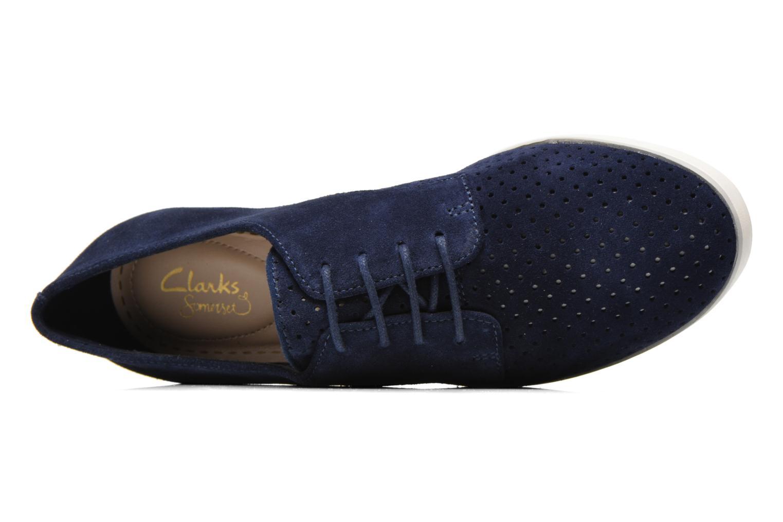 Chaussures à lacets Clarks Evie Bow Bleu vue gauche