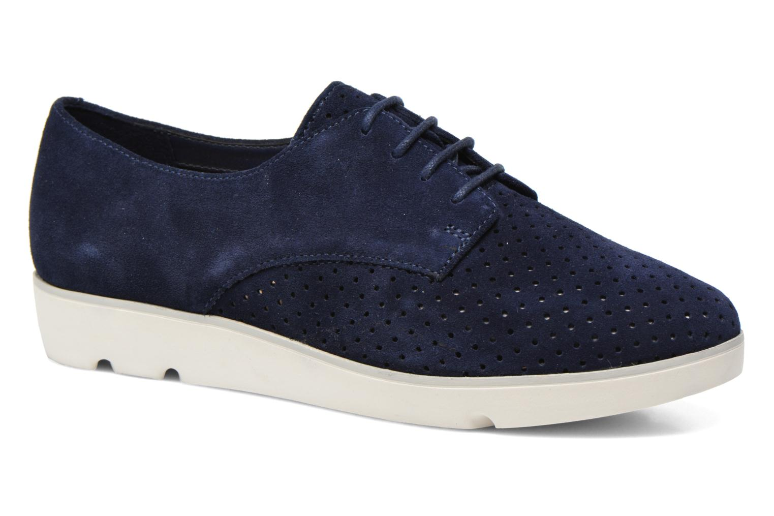 Lace-up shoes Clarks Evie Bow Blue detailed view/ Pair view