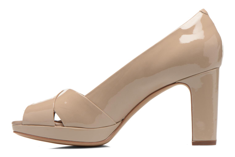 Zapatos de tacón Clarks Jenness Cloud Beige vista de frente