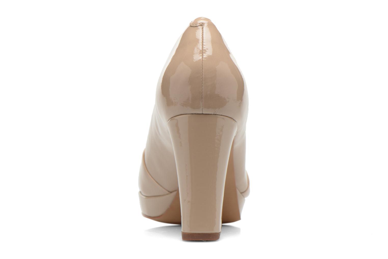 Zapatos de tacón Clarks Jenness Cloud Beige vista lateral derecha