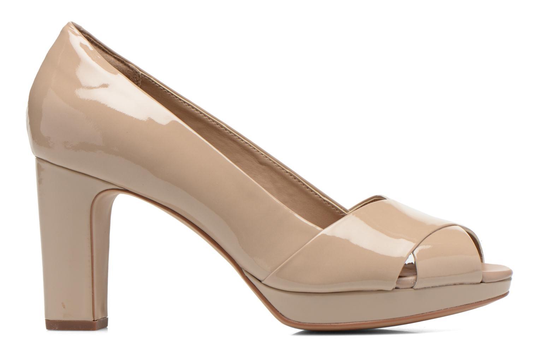 Zapatos de tacón Clarks Jenness Cloud Beige vistra trasera