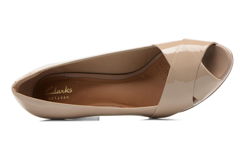 Zapatos de tacón Clarks Jenness Cloud Beige vista lateral izquierda