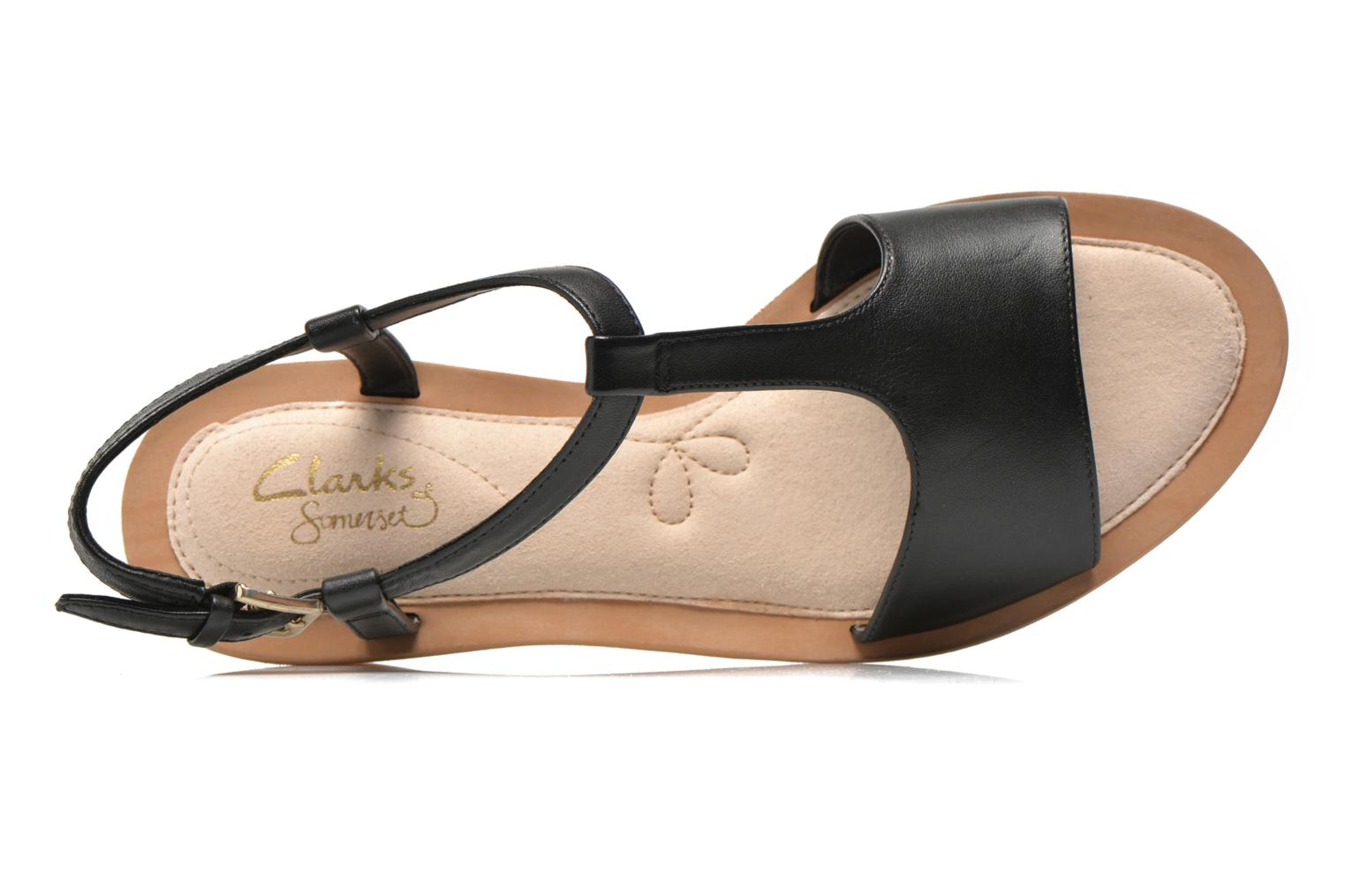 Sandals Clarks Sandcastle Ice Black view from the left