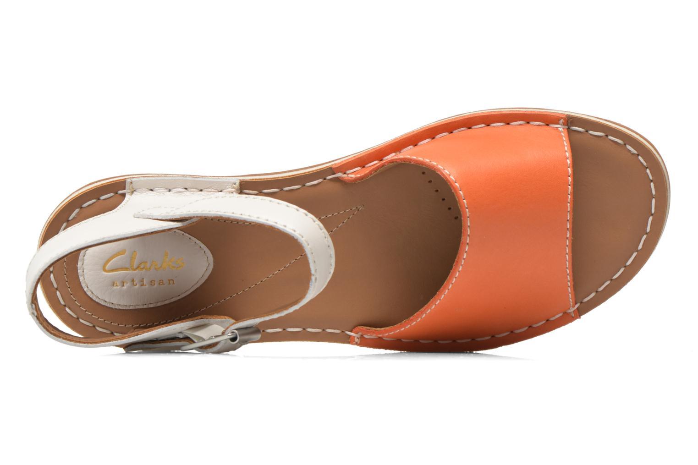 Sandalen Clarks Tustin Sinitta orange ansicht von links