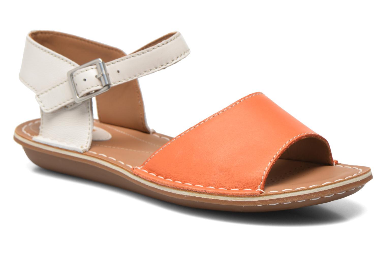 Sandales et nu-pieds Clarks Tustin Sinitta Orange vue détail/paire