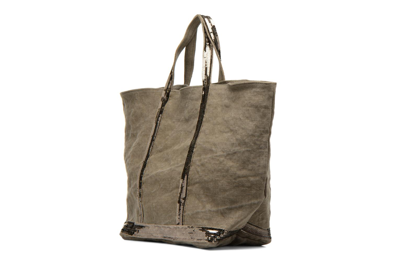 Handbags Vanessa Bruno Cabas Lin paillettes M+ Green model view