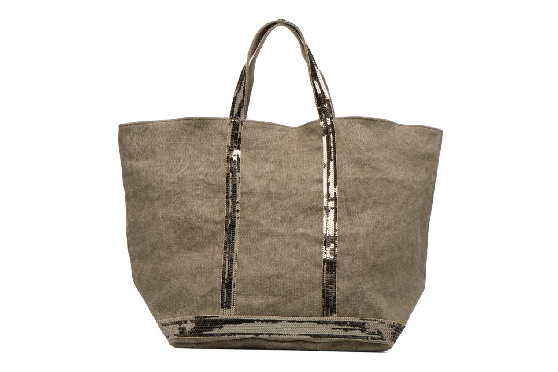 Handbags Vanessa Bruno Cabas Lin paillettes M+ Green front view