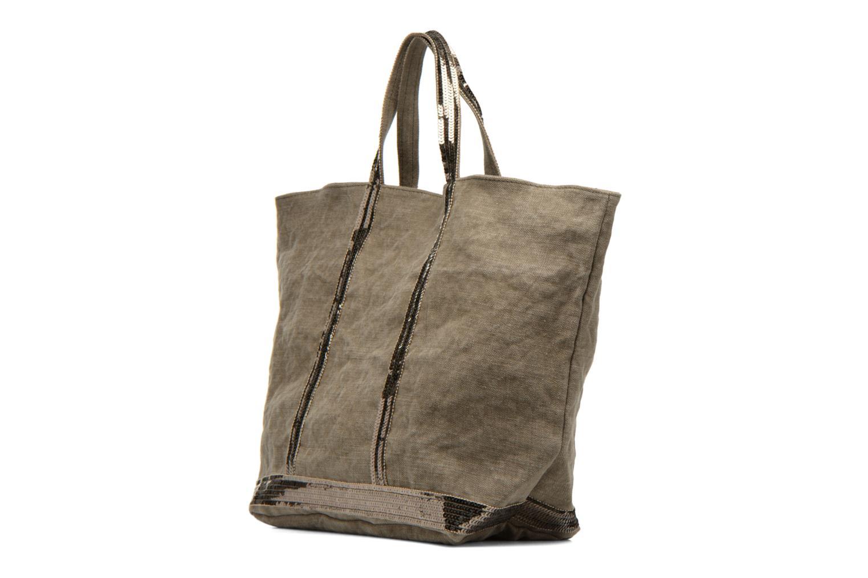 Handväskor Vanessa Bruno Cabas Lin paillettes M+ Grön Bild från höger sidan