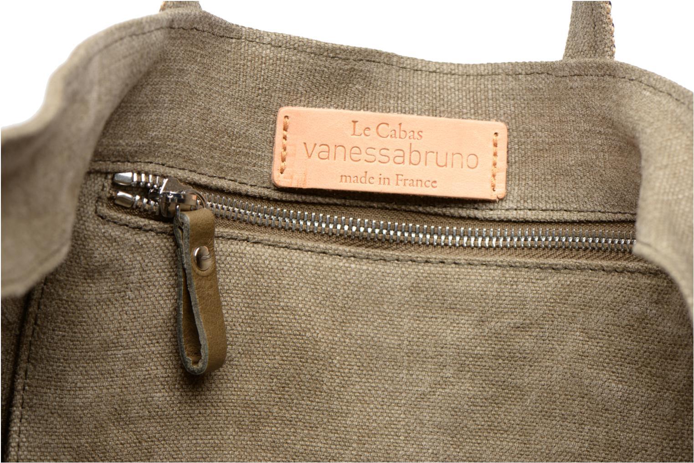Handbags Vanessa Bruno Cabas Lin paillettes M+ Green back view