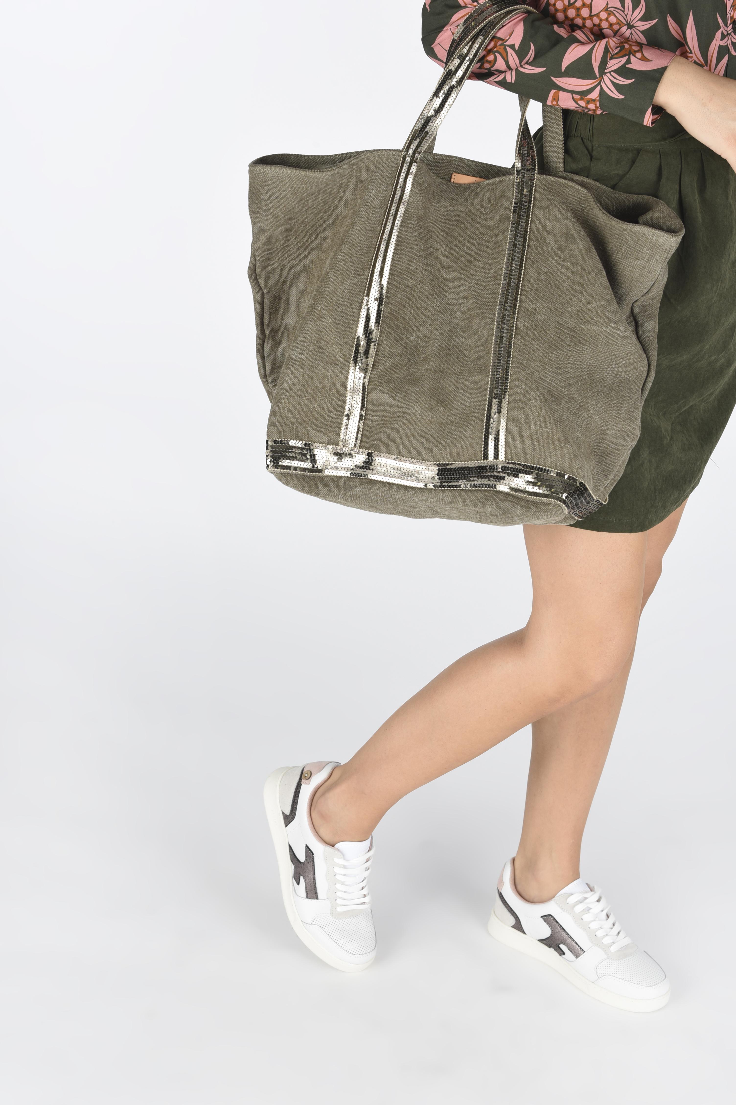 Handväskor Vanessa Bruno Cabas Lin paillettes M+ Grön bild från ovan