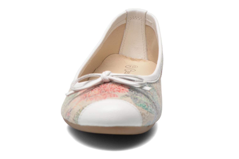 Ballerines Coco et abricot Ilse Multicolore vue portées chaussures