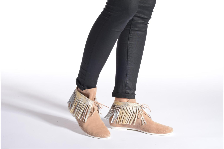 Bottines et boots Yum Gum Demi Glitter Beige vue bas / vue portée sac
