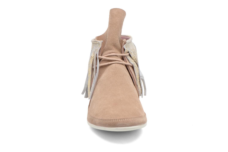 Bottines et boots Yum Gum Demi Glitter Beige vue portées chaussures