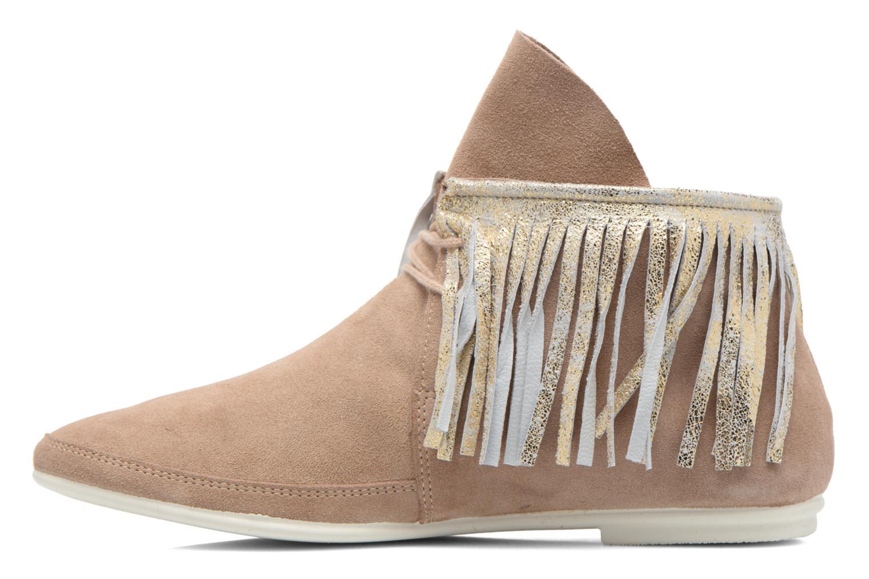 Bottines et boots Yum Gum Demi Glitter Beige vue face