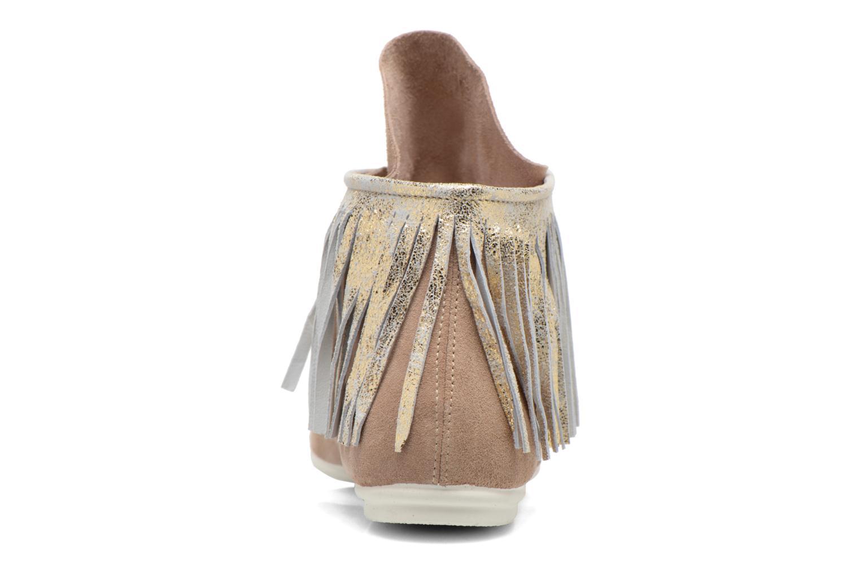 Bottines et boots Yum Gum Demi Glitter Beige vue droite
