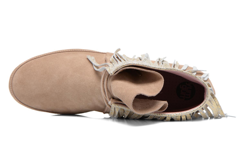 Stiefeletten & Boots Yum Gum Demi Glitter beige ansicht von links