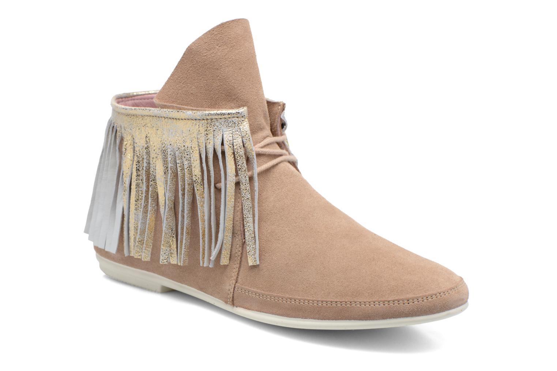 Bottines et boots Yum Gum Demi Glitter Beige vue détail/paire