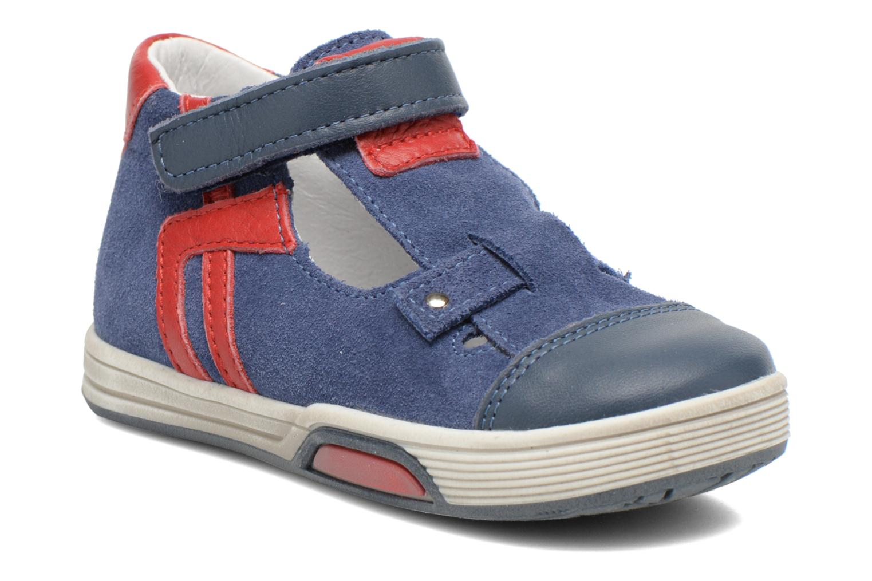 Chaussures à scratch Bopy Blog Bleu vue détail/paire