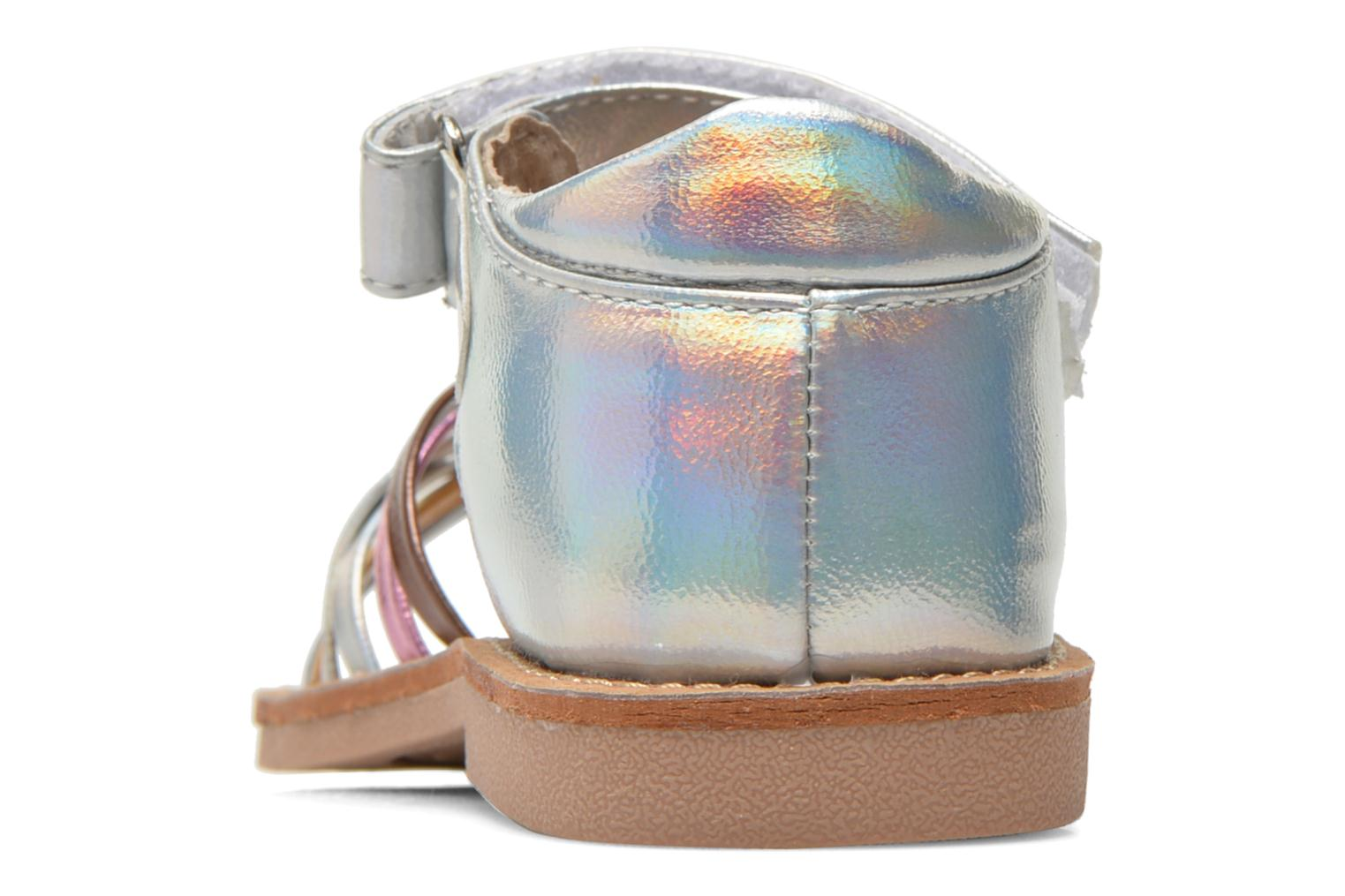 Sandals Bopy Cagica kouki Silver view from the right
