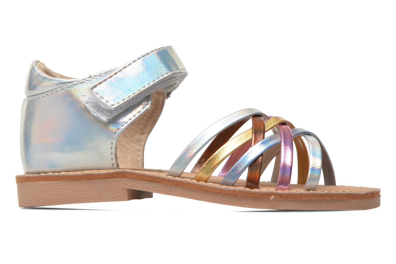 Sandales et nu-pieds Bopy Cagica kouki Argent vue derrière