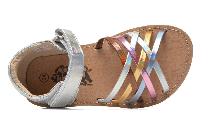 Sandalen Bopy Cagica kouki silber ansicht von links