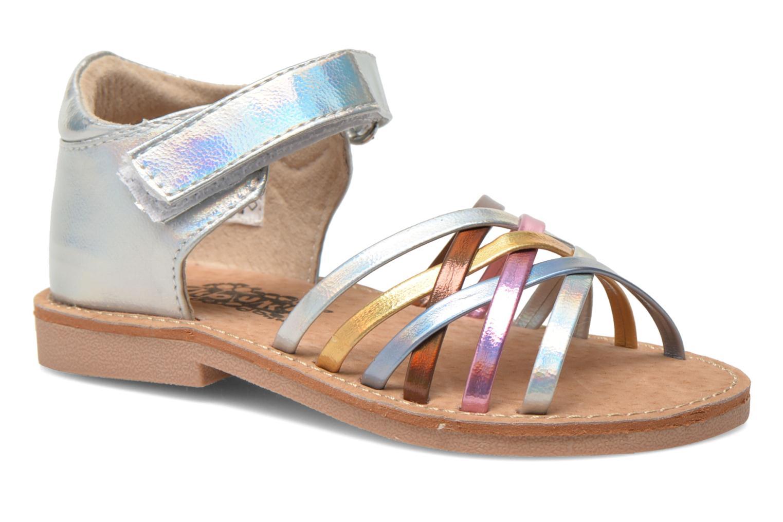Sandales et nu-pieds Bopy Cagica kouki Argent vue détail/paire