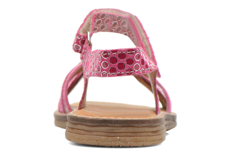 Sandales et nu-pieds Bopy Editara Rose vue droite
