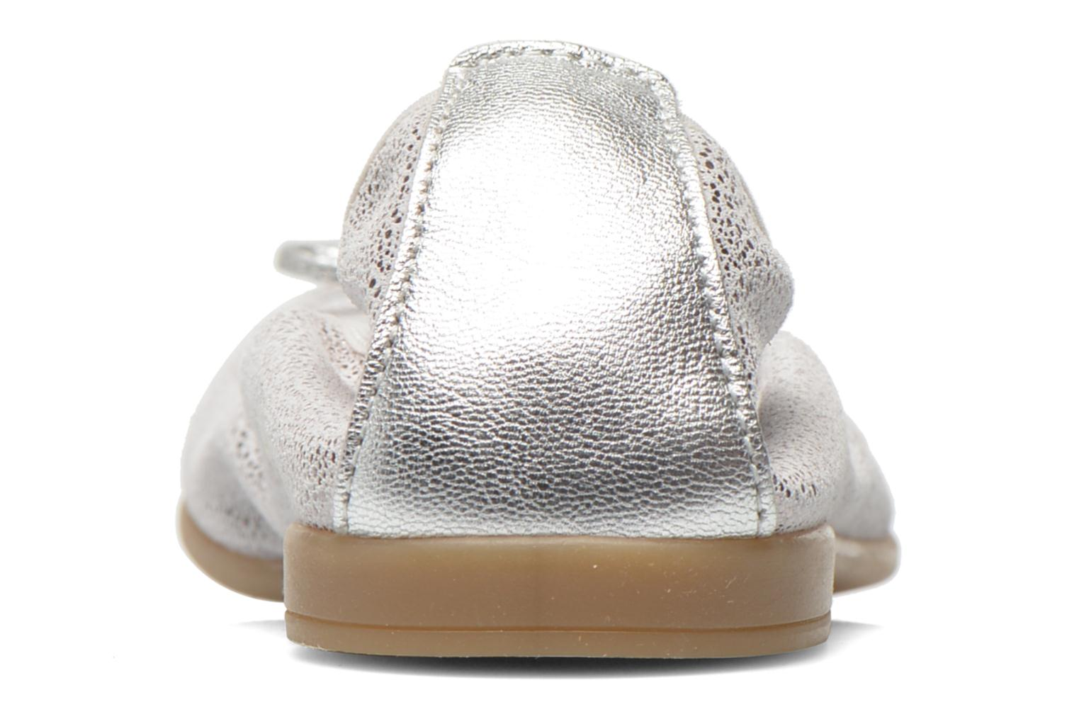 Ballet pumps Bopy Sibylle Silver view from the right