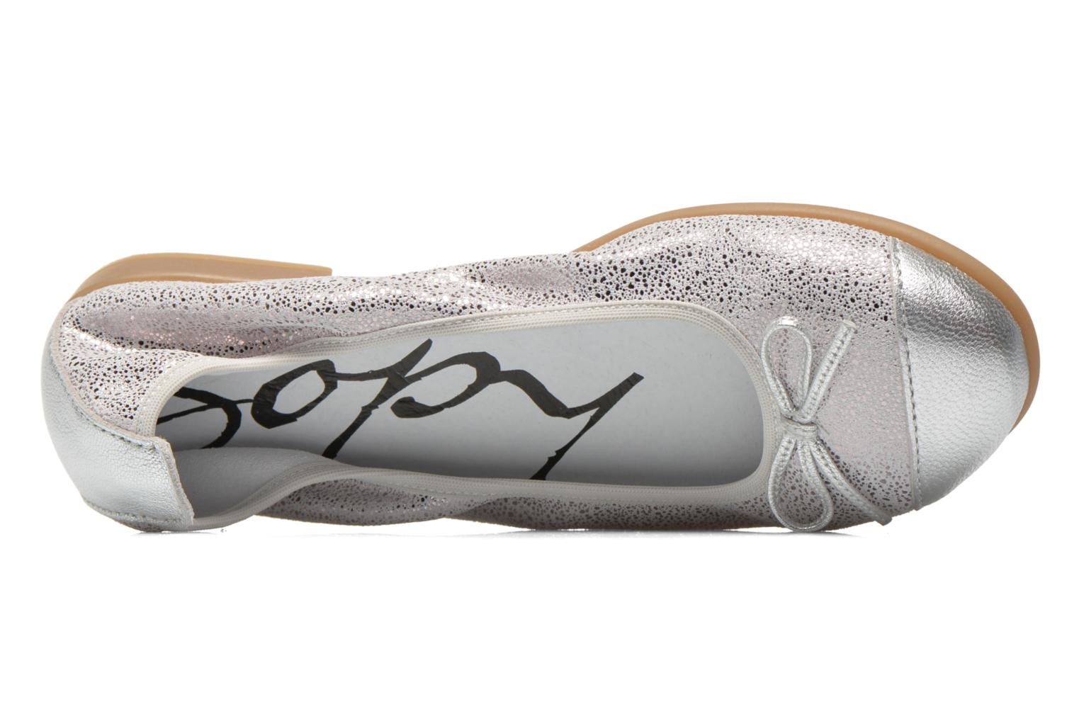 Ballet pumps Bopy Sibylle Silver view from the left