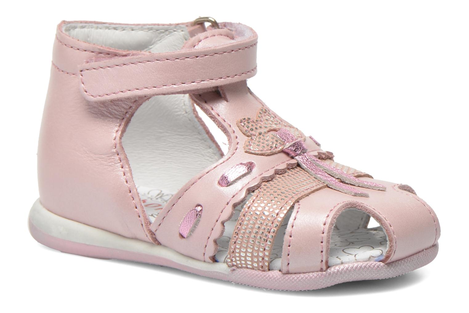 Sandals Bopy Zamina Pink detailed view/ Pair view