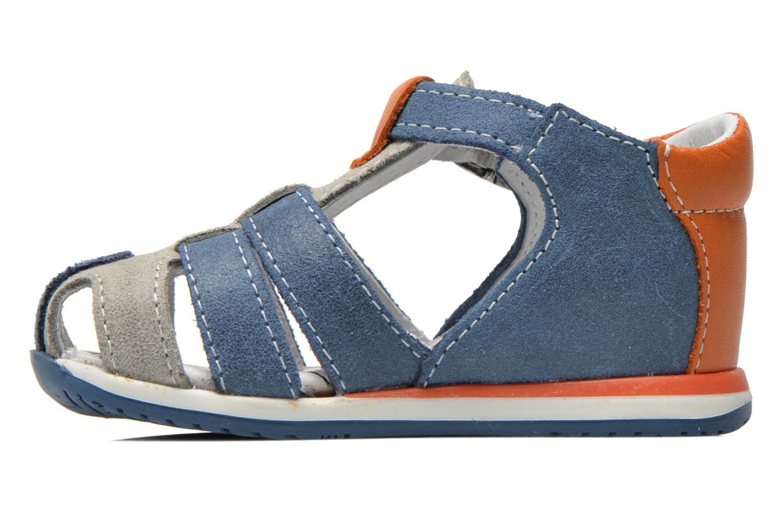 Sandalen Bopy Zephiro blau ansicht von vorne