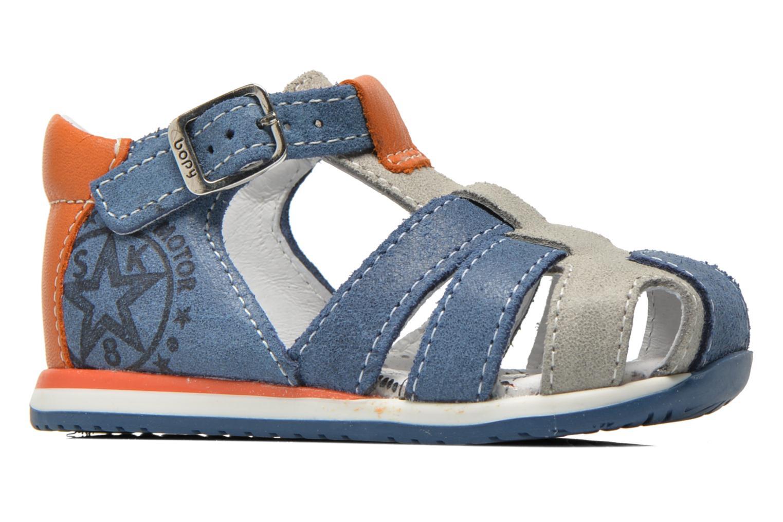 Sandales et nu-pieds Bopy Zephiro Bleu vue derrière