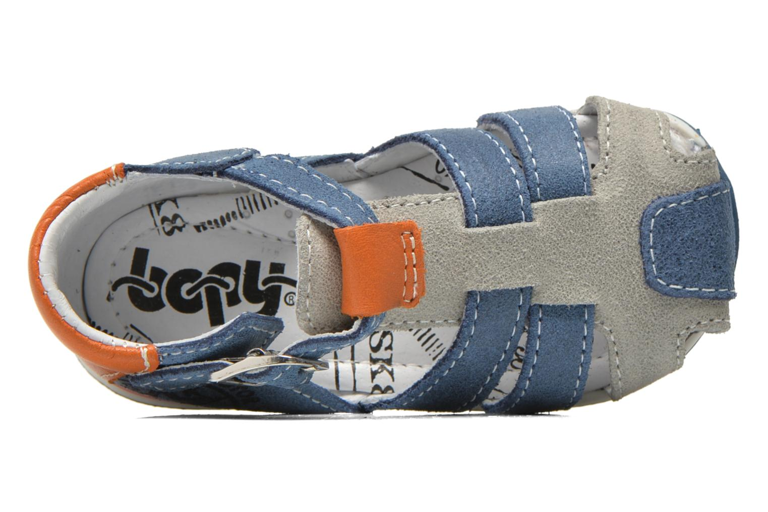 Sandals Bopy Zephiro Blue view from the left