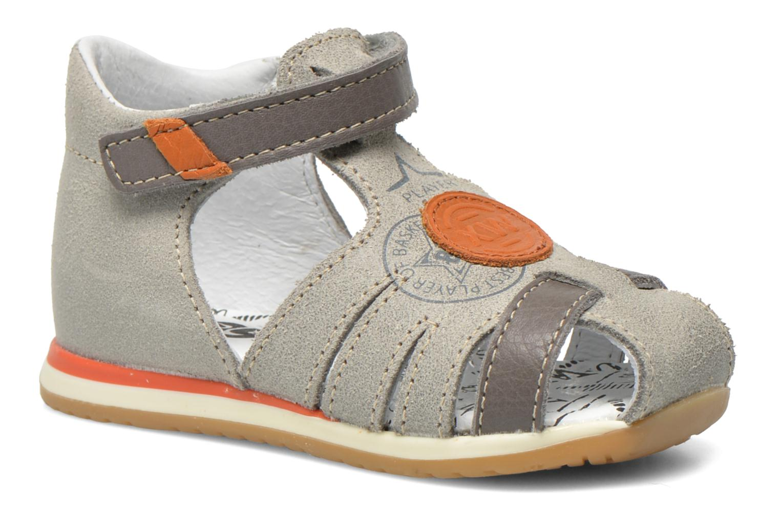 Sandals Bopy Zook Grey detailed view/ Pair view