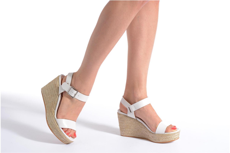 Sandalen Made by SARENZA Menthe Hello #18 weiß ansicht von unten / tasche getragen