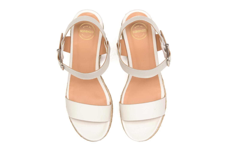 Sandalen Made by SARENZA Menthe Hello #18 weiß schuhe getragen