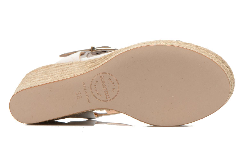 Sandalen Made by SARENZA Menthe Hello #18 weiß ansicht von oben