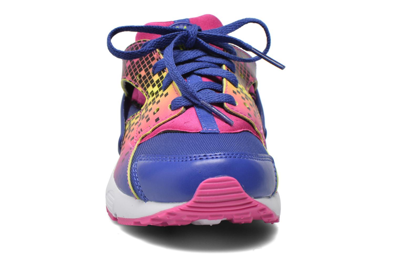Baskets Nike Nike Huarache Run Print (Ps) Violet vue portées chaussures