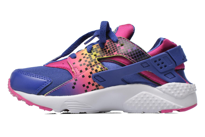 Baskets Nike Nike Huarache Run Print (Ps) Violet vue face