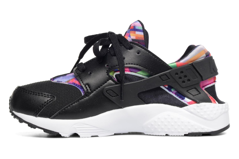 Nike Huarache Run Print (Ps) Black/Black-Hyper Violet-Hyper Violet
