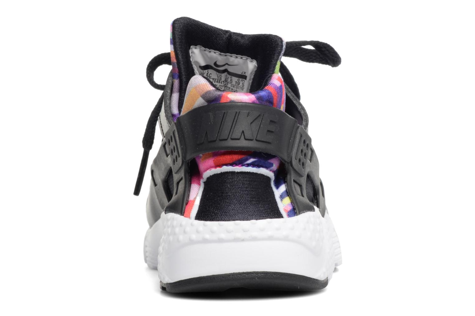 Trainers Nike Nike Huarache Run Print (Ps) Black view from the right