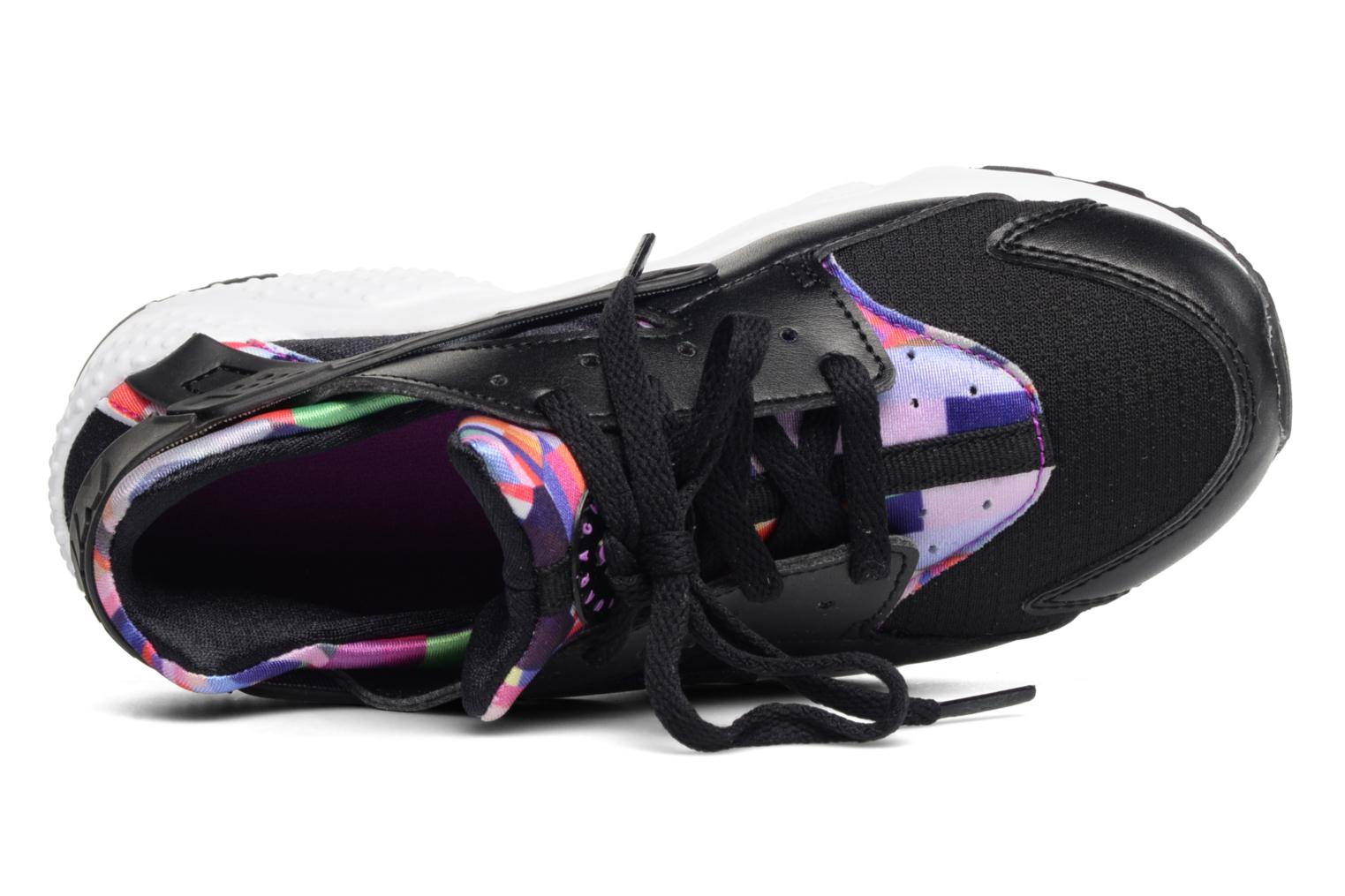 Trainers Nike Nike Huarache Run Print (Ps) Black view from the left