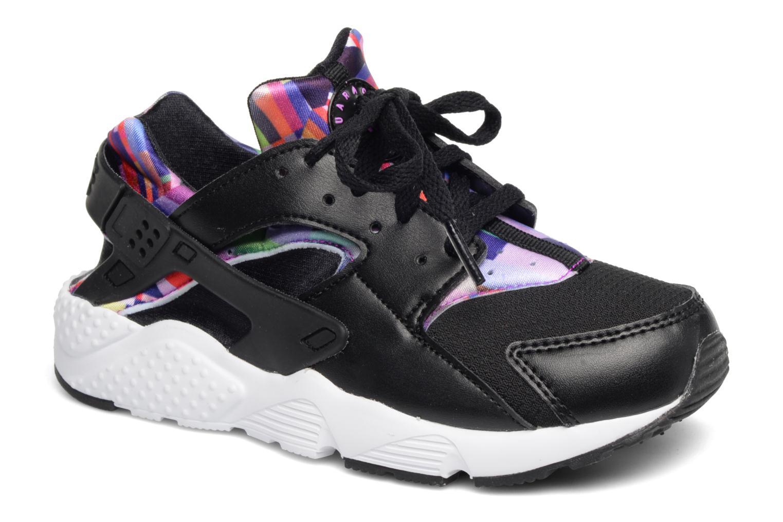 Baskets Nike Nike Huarache Run Print (Ps) Noir vue détail/paire