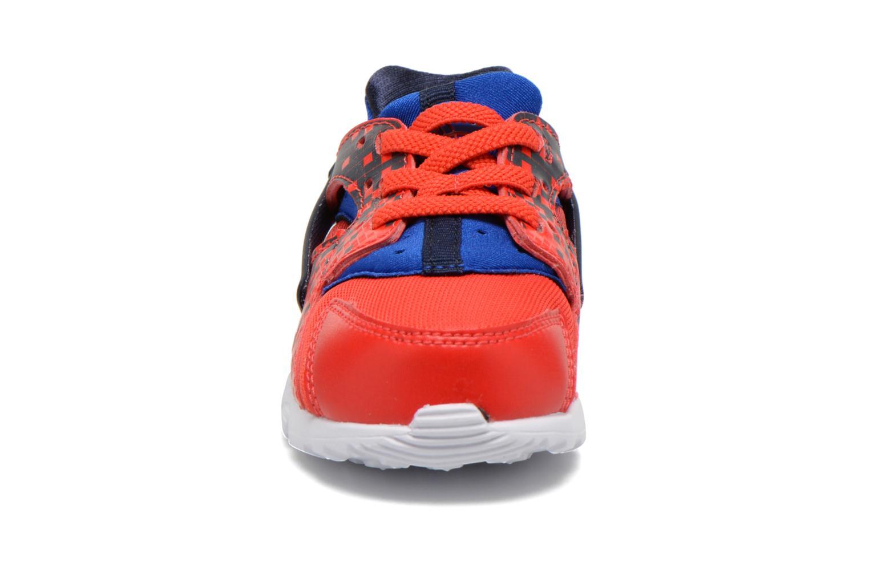Sneaker Nike Nike Huarache Run Print (Td) rot schuhe getragen