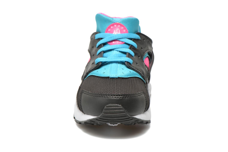 Nike Huarache Run (Ps) Black White-Pink Blast-Gmm Bl