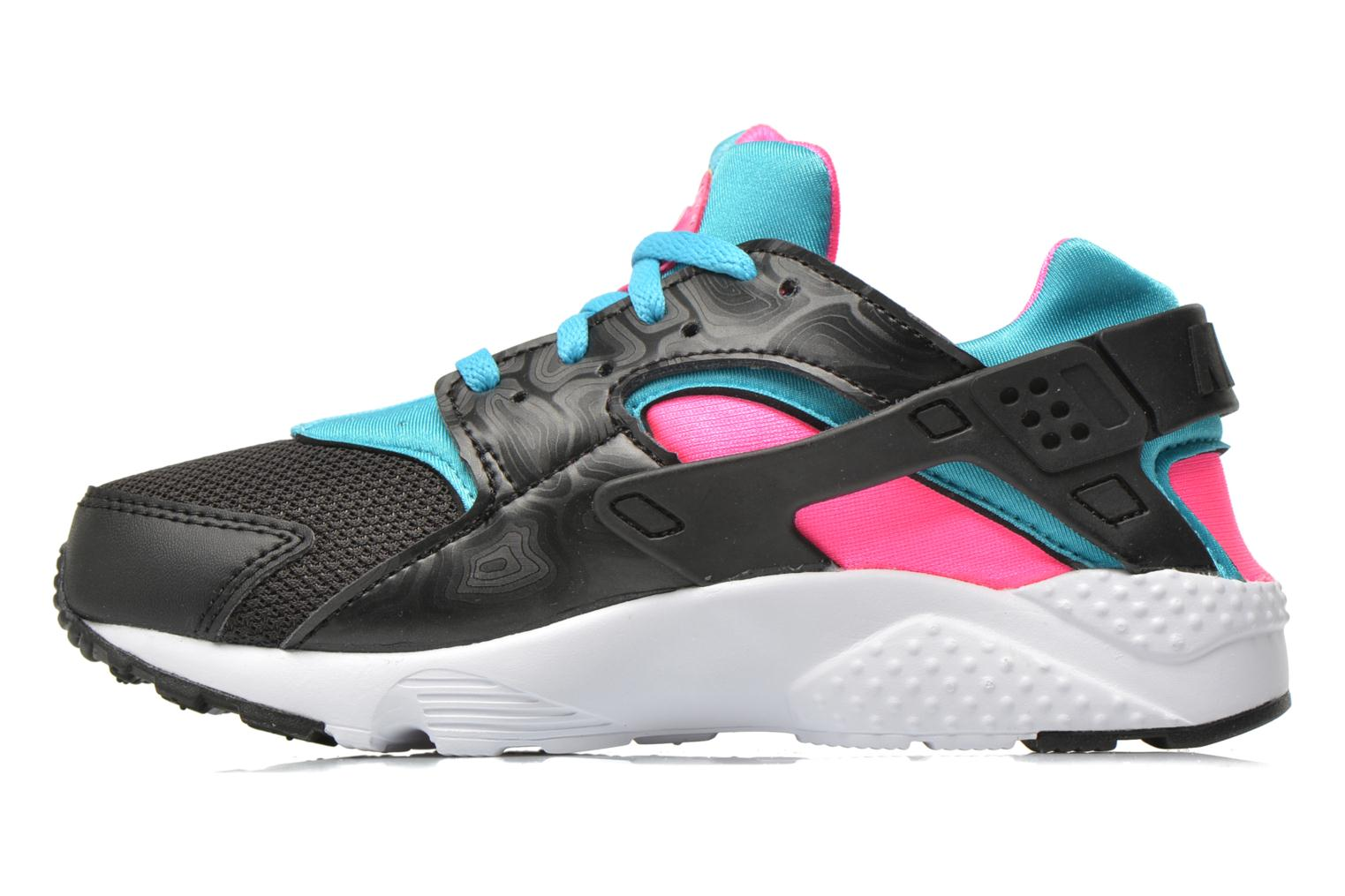 Nike Huarache Run (Ps) Black White-Pink Blast-Gmm Bl