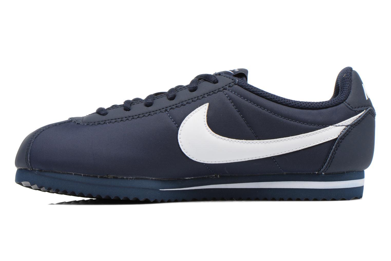 Sneaker Nike Cortez Nylon (Gs) blau ansicht von vorne